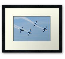 Blue Angels Diamond Roll Framed Print