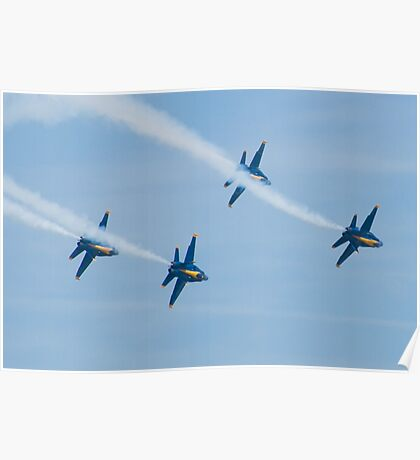 Blue Angels Diamond Roll Poster