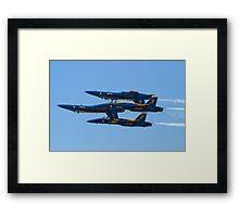 Blue Angels Double Farvel 2010  Framed Print