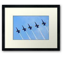 Blue Angels Line Abreast Loop Framed Print