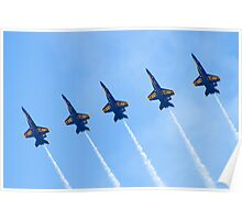 Blue Angels Line Abreast Loop Poster