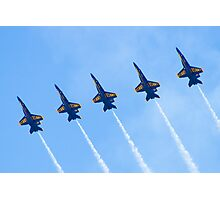 Blue Angels Line Abreast Loop Photographic Print