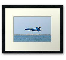 Blue Angels Solo #6 Skimming Lake Erie Framed Print