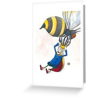 Giant Bumblebee Steals King's Crown Greeting Card