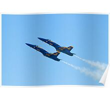 Blue Angels Solos High Alpha Pass Poster