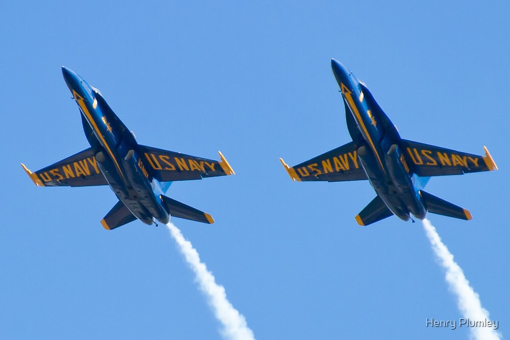 Blue Angels Solos Pass  by Henry Plumley