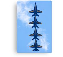 Blue Angels Tucked Under Canvas Print
