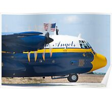 Tight Shot Blue Angels Fat Albert Taxiing Poster