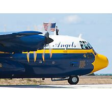 Tight Shot Blue Angels Fat Albert Taxiing Photographic Print