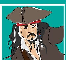 Digiter - Jack Sparrow iPhone case by Lauren Eldridge-Murray