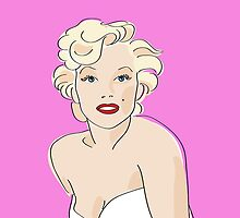 Digiter - Marilyn Monroe iPhone case by Lauren Eldridge-Murray