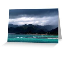 Stormy Reef Greeting Card