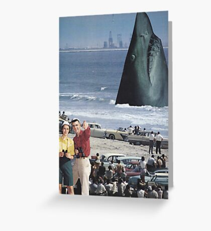 ' Open Jaws' Greeting Card