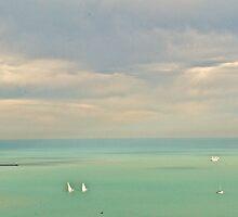 Boats on Lake Michigan by Ginadg73
