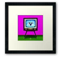 On TV Framed Print