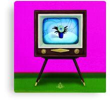 On TV Canvas Print