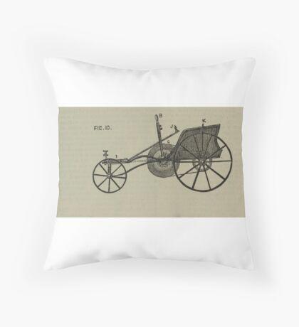 Vintage bike 1 Throw Pillow