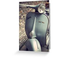 Vintage Vespa Greeting Card