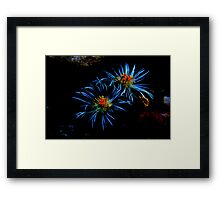 Elephant Toes Blue Dreams Framed Print