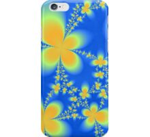 Orange Flutterbyes on Blue iPhone Case/Skin