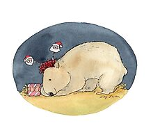 Christmas Wombat by Nicky Johnston