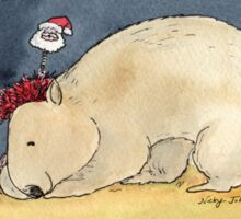 Christmas Wombat Sticker