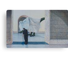 Museum IX (Shrouded), Pencil on Paper, 36x58cm. Canvas Print