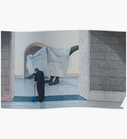 Museum IX (Shrouded), Pencil on Paper, 36x58cm. Poster