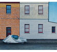 Covered Car, Pencil on Paper, 50x59cm. Photographic Print