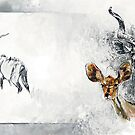 Kudu Study in Graphite & Oil - Africa Series by Pieter  Zaadstra