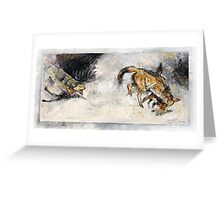 Fighting Jackals in Oil - Africa Series Greeting Card