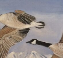 Flying geese Sticker