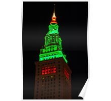 Christmas Terminal Tower Poster