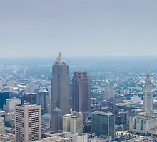 Downtown Cleveland Ohio from 8,000 Feet by Henry Plumley