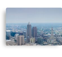 Downtown Cleveland Ohio from 8,000 Feet Canvas Print