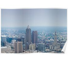 Downtown Cleveland Ohio from 8,000 Feet Poster