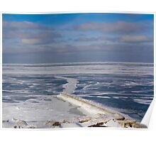 Lake Erie Frozen Over Poster