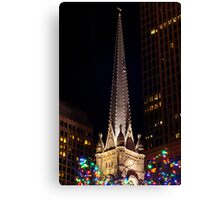 Old Stone Church Cleveland Ohio During Winterfest Canvas Print