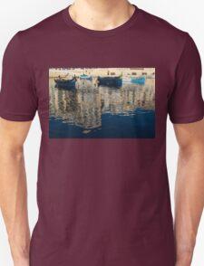 Reflecting on Malta - St. Julian's Harbor Charming Old Boats T-Shirt