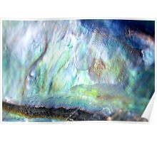 Paua Shell Abstract Poster