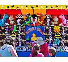 Catch a  Duck - Every Child Wins a Prize Photographic Print