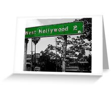 west hollywood sign Greeting Card
