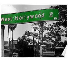 west hollywood sign Poster