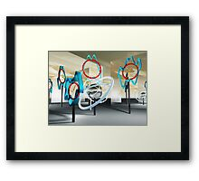 Clocks world Framed Print