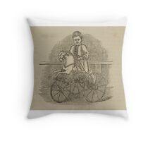 Vintage bike 8 Throw Pillow