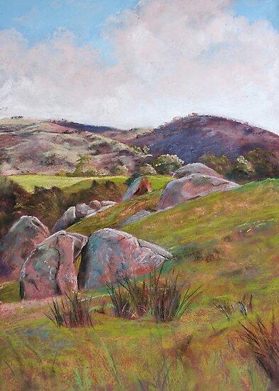 Trawool Rocks by Lynda Robinson