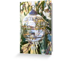 Bauble in Red Gum Blossoms Greeting Card