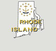 Rhode Island State Flag Map Unisex T-Shirt