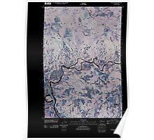 USGS Topo Map Washington State WA Woodland 20110404 TM Inverted Poster