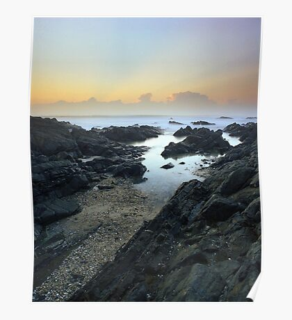 """""""One With The Sea"""" ∞ Hastings Point, NSW - Australia Poster"""